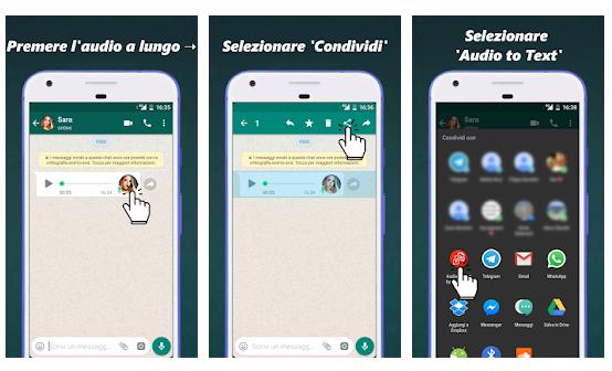 trascrivere audio WhatsApp