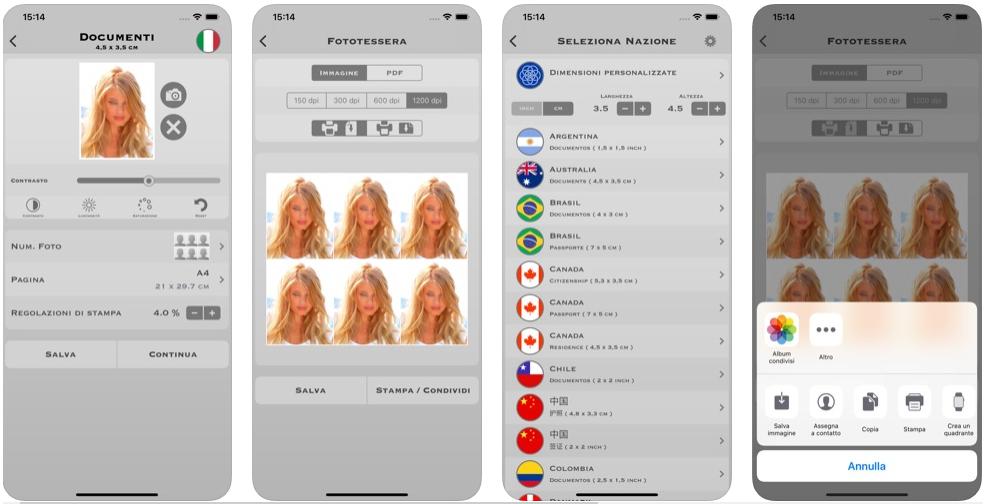 app per fototessera